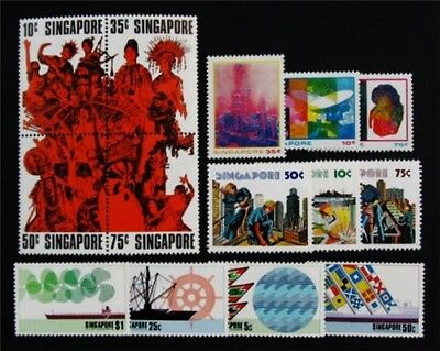 nystamps British Singapore Stamp # 182a // 278 Mint OG NH $40