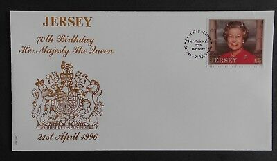 Clearance   Jersey 1996 £5.00 Royalty. FDC SG738 Queen.