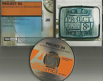 PROJECT 86 An introduction to RARE 4TRK SAMPLER PROMO Radio DJ CD single 2002
