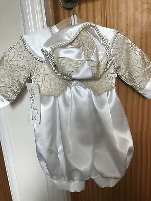 Baby Boys Christening Outfit Age 0-6 Months Bnwt