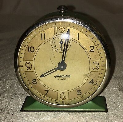 Green Ingersoll Alarm Clock,  More Listed