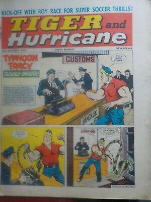 TIGER & HURRICANE Vintage comic from 30.10.1965 - inc.Roy of the Rovers