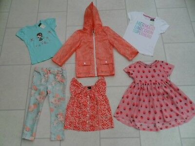 Girls Tops Trousers, Raincoat & Next Dress Bundle Age 4/5 Years *Some New*