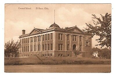 Vintage Post Card Central School El Reno OK