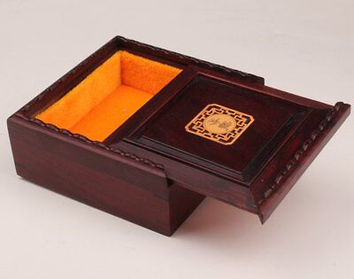 Rosewood Carving Precious Collectibles Expensive Jewelry Box Gift