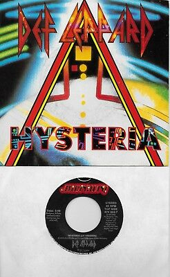 DEF LEPPARD  Hysteria / Ride Into The Sun (nonLP track) 45 with PicSleeve
