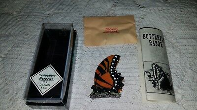 """C A Daniels Co: Collectible Brass Razor - MONARCH BUTTERFLY 3"""" X 2""""   180801015"""