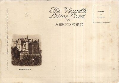 THE VIGNETTE LETTER CARD OF ABBOTSFORD, SCOTLAND   unused  EARLY 20TH C.