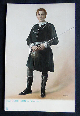 E.H. Sothern as Hamlet, Tuck Stage Favorites, circa 1905