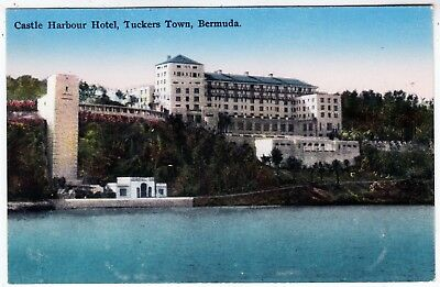 Bermuda Castle Harbour Hotel Tuckers Town C1920s Era Used Postcard