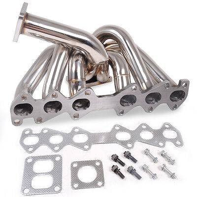 Stainless Steel T4 Top Mount Turbo Manifold For Toyota Supra Soarer Mk3 1Jzgte