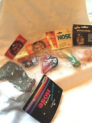 Vintage Halloween / Masks/ Costumes / Noses / Collegeville / Witch / Garden Hose