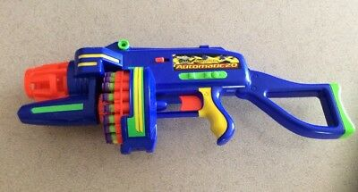 Buzz Bee Toys Motorized Automatic Tommy Gun 20 Ammo Air Warriors Batteries Incl