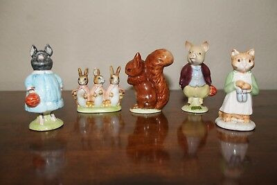 Group of Five Beatrix Potter Figurines (Hard to Find) Excellent Condition