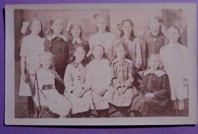ARBROATH. GROUP YOUNG GIRLS; CLASS? REAL PHOTO POSTCARD by ANCKHORN, WESTPORT.
