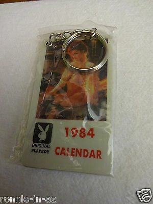 1984 Mini Playboy Calendar Key Chain Playmates Sealed Package Hefner Bunny Club