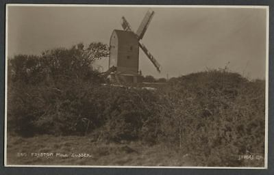 Friston Suffolk East Sussex: c.1920 RPPC Real Photo Judges Postcard FRISTON MILL
