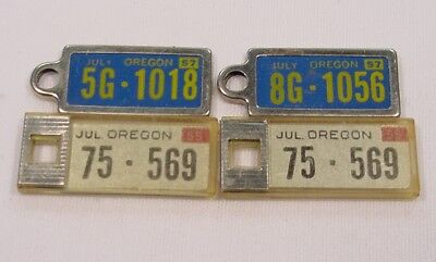 4 Vintage 1955 and 57 OREGON ~ DAV Mini License Plates for Your Key Chain