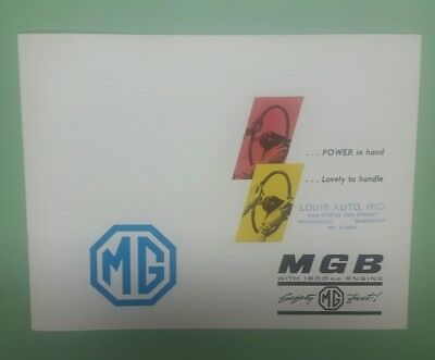 1962 MG MGB brochure