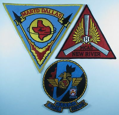 3 Different USMC Air Station Patches