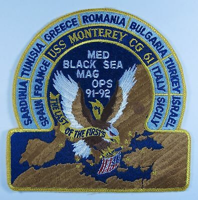 USN USS Monterey CG-61 MED/Black Sea 1991-1992 Cruise Patch