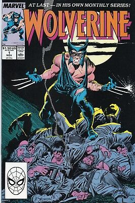 Wolverine #1, #2, #3 (Marvel 1988) 3 Comic Book Lot - 1st Appearance as Patch
