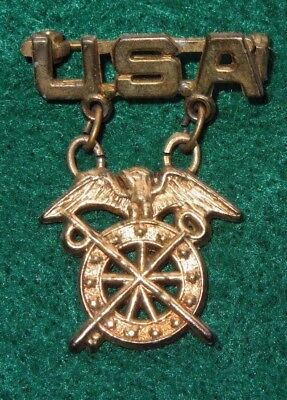 WWII US Army QUARTERMASTER Military Sweetheart Pin Jewelry