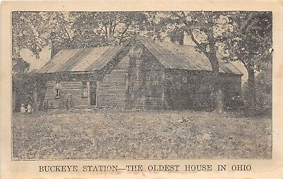 E11/ Buckeye Station Adams Co Ohio Postcard c1910 Oldest House Massie Manchester