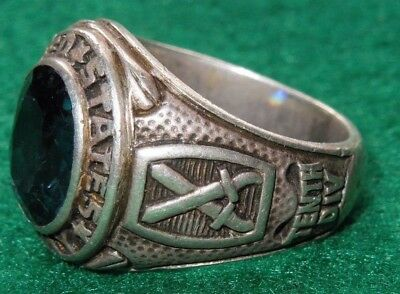 WWII Era Sterling US Army 10th Mountain Division Ring