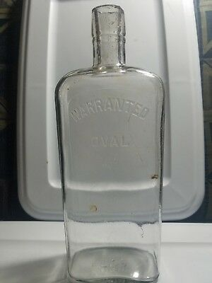 1930s Warranted Oval whisky flask