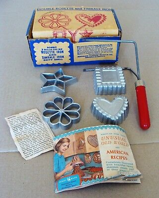 Vintage Double Rosette and Timbale Iron Nordic Ware