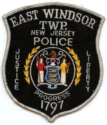 "East Windsor New Jersey Police Department 5.5"" Patch LEO Law Enforcement Officer"