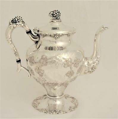 """vintage"" Pattern By Eg Wester Silver Plate Tea Pot Or Coffee Pot Grapes Design"