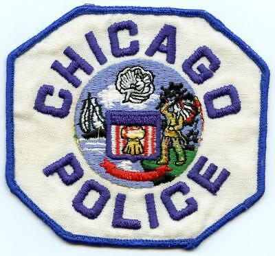 "Chicago Illinois Police Department Officer 4.25"" Blue Border Patch"