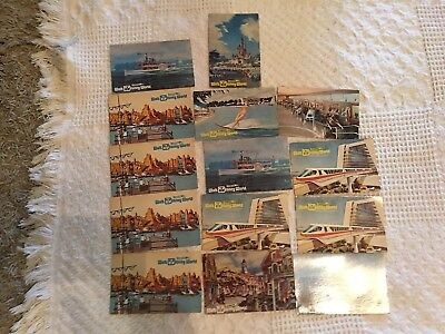 LOT of late60s/early 70s WALT DISNEY WORLD art illustrated ORE-OPENING postcards