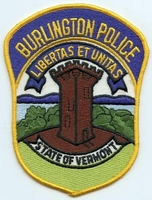 "Burlington Vermont Police Department 5.25"" Patch LEO Law Enforcement Officer"