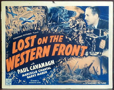 WWI Lost on the Western Front 1937 Original Lobby Title Card Cavanagh