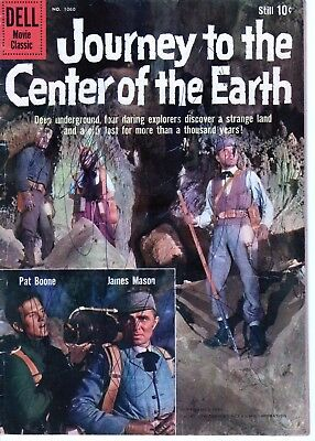 JOURNEY TO THE CENTER OF THE EARTH Four Color 1060 (1959) MOVIE, PAT BOONE!