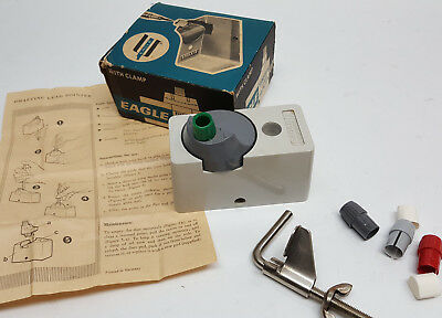 NOS Eagle Turquoise 17 lead pointer drafting pencil drawing sharpener with clamp
