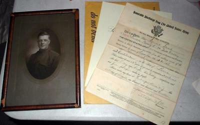 Ww1 Photo Of Howard Stead, 7Th Field Artillery, Discharge Letter, Nixon Letter