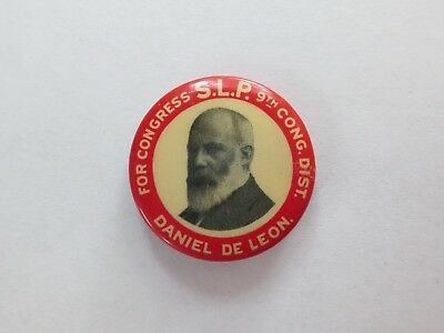 Celluloid Pinback for Daniel DeLeon for Congress from New York