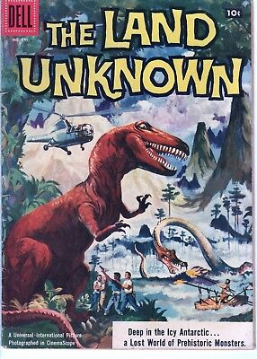 THE LAND UNKNOWN Four Color 845 (1957) DINOSAUR MONSTER MOVIE! ALEX TOTH ART!