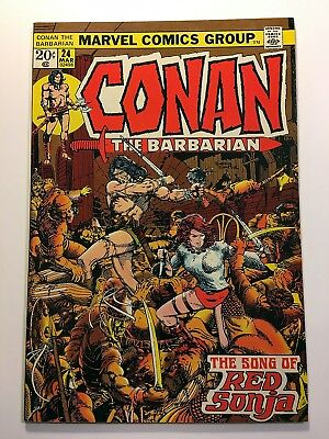 CONAN THE BARBARIAN #24 1st FULL RED SONJA STORY BARRY WINDSOR SMITH!