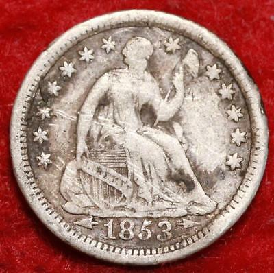 1853-O New Orleans Mint Seated Liberty Silver Half Dime