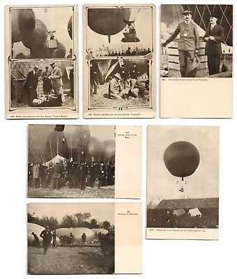 1907 St Louis MO Gordon Bennett Gas Balloon Race Hot Air Ballooning Postcards