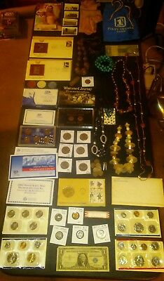 BIG coin LOT collection JEWELRY BANK BAG MINT SETS 40% SILVER +NO JUNK DRAWER