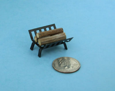 1:12 Scale Dollhouse Miniature Fireplace Log Rack with Stacked Firewood #SD298