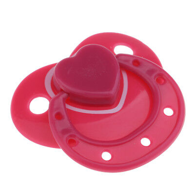 Magnetic Dummy Soother Pacifier For Reborn Baby Dolls Accessories Rose Red