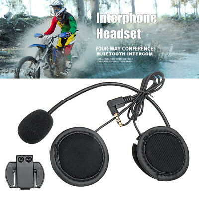 Helmet Headset Speaker + Clip For V6/V4 Bluetooth Motorcycle Intercom Interphone