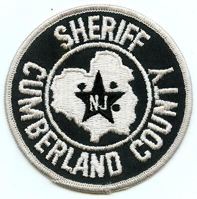 "Cumberland County New Jersey Sheriff Department 4"" Patch Law Enforcement Officer"